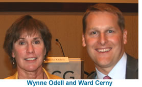 Wynne Odell, CEO, Odell Brewing Company with Ward Cerny, ACG Denver